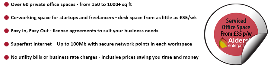 Aldershot Enterprise Centre Offers
