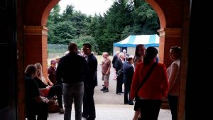 Tea on the Lawn - Guests arrive