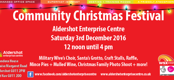 Christmas Festival Aldershot Enterprise Centre